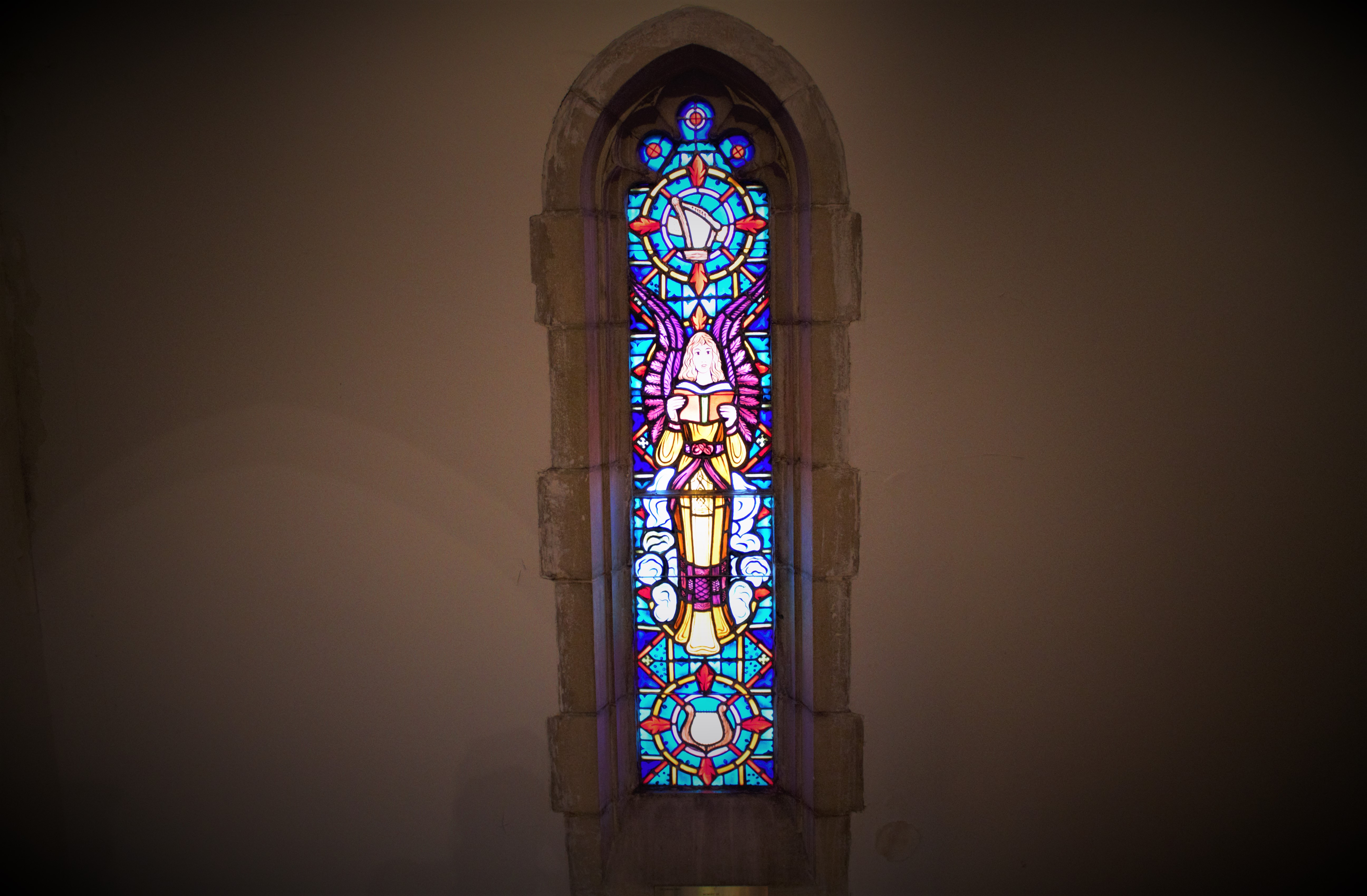 Stained Glass windows at Trinity Lutheran Downtown Orlando