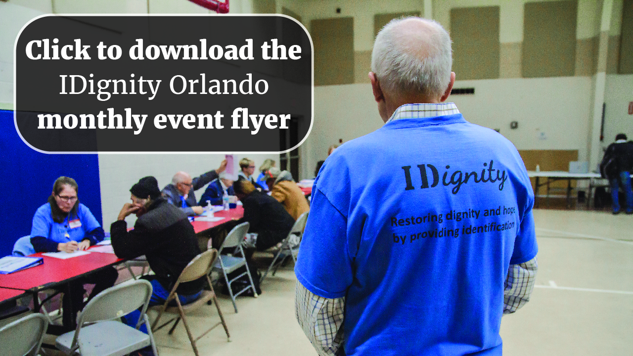 Click to download the IDignity Orlando monthly event flyer