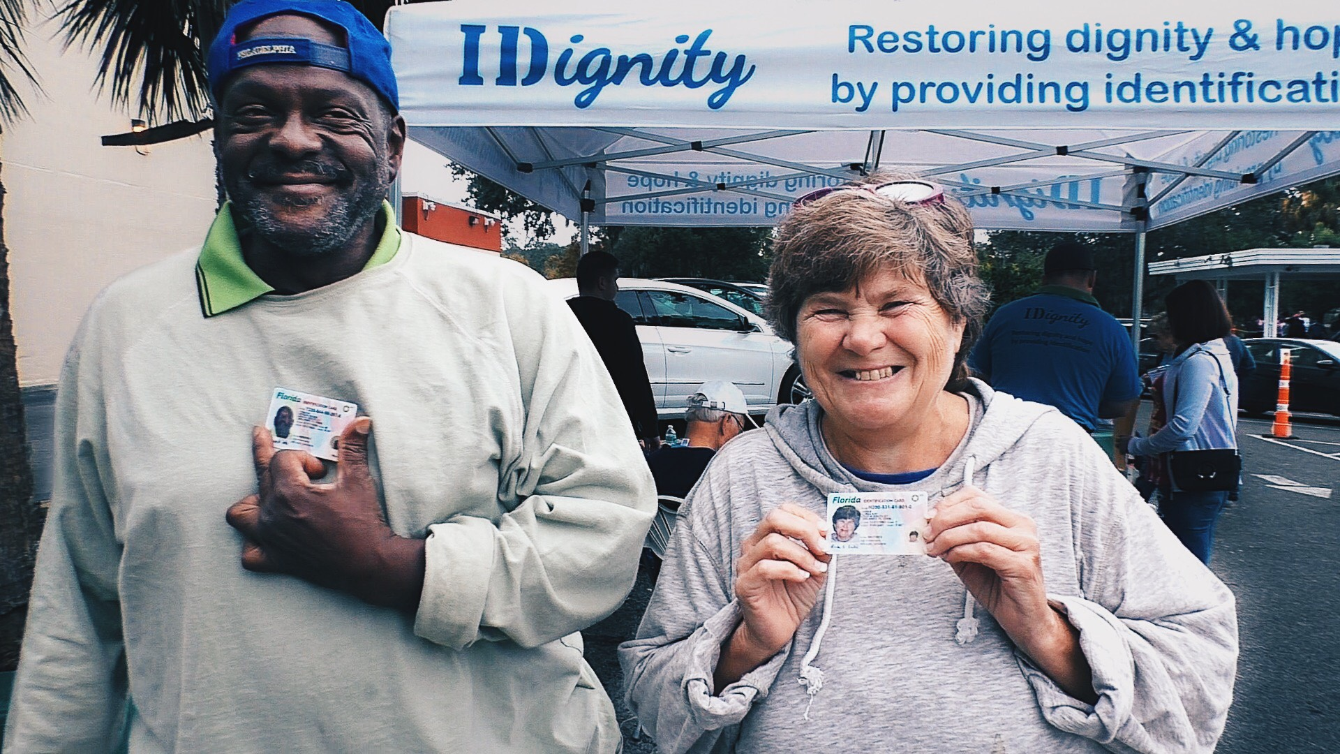 Myron and Linda on the day they came to IDignity