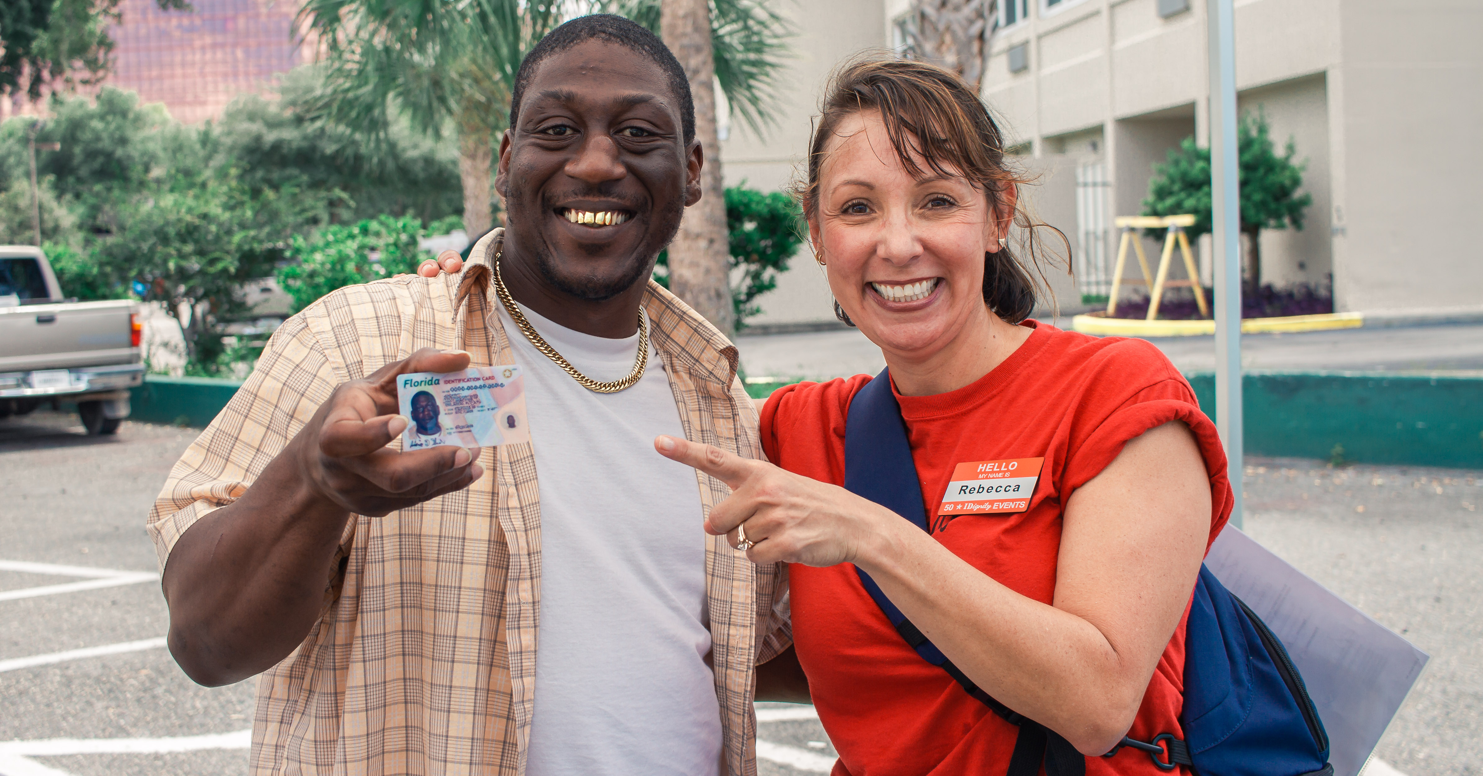 IDignity client celebrates his new ID