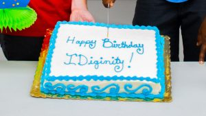 A close up of IDignity's birthday cake.