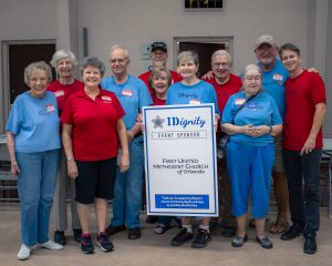 A group of volunteers from First United Methodist Church of Orlando poses for a group shot