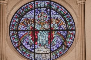 Stained glass at the Cathedral Church of St. Luke.