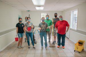 The volunteer cleaning team